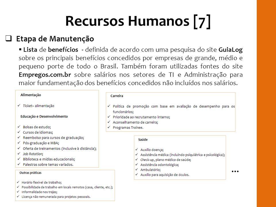 Recursos Humanos [7] RILAY ... Etapa de Manutenção